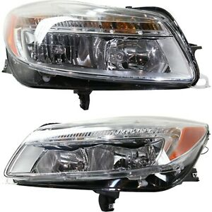 Headlight For 2011 2013 Buick Regal Pair Driver And Passenger Side Capa