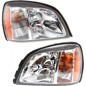 Headlight Set For 2004 2005 Cadillac Deville Left And Right With Bulb 2pc