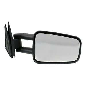 Manual Towing Mirror For 99 06 Chevrolet Silverado 1500 Right Camper Manual Fold