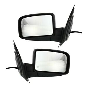Power Mirror For 2003 Ford Expedition Manual Folding With Puddle Light 2pc