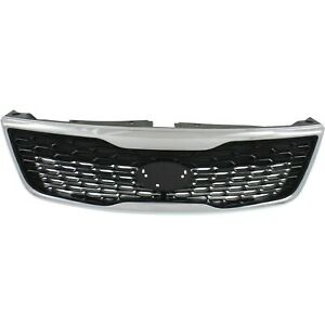 Grille For 2014 2015 Kia Sorento Black Plastic
