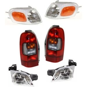 Headlight Kit For 97 2005 Chevrolet Venture Front And Rear Left And Right 6pc