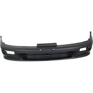 Front Bumper Cover For 92 93 Acura Integra W Fog Lamp Holes Primed