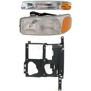 Headlight Kit For 99 2002 Gmc Sierra 1500 Sierra 2500 Left 3pc