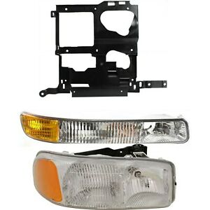 Headlight Kit For 99 2002 Gmc Sierra 1500 Sierra 2500 Right 3pc