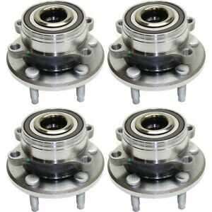 4pc Kit Front Rear Wheel Bearing Hub Fits 2011 2016 Ford Explorer Fwd Or 4wd