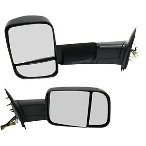 Tow Mirror Set For 2002 09 Dodge Ram 1500 Left Right Side Puddle Signal Light