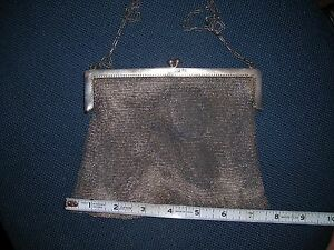 Sterling Silver 1900 S Mesh Purse Bag Marked Sterling 224 Grams