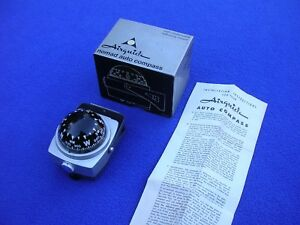 Vintage Nomad Auto Compass By Airguide Model 79c Dashboard Boat Hot Rod Nos New