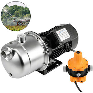 1 6hp Jet Water Pupm Pressure Booster Water Jet Stainless Pump Self priming