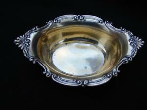 Vintage Antique Gorham Sterling Silver Cromwell Master Salt Cellar Nut Dish