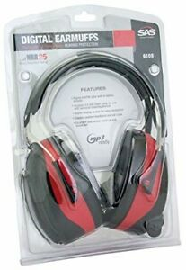Sas Safety 6108 Digital Earmuff Hearing Protection With Am fm Radio And Mp 3 Rea