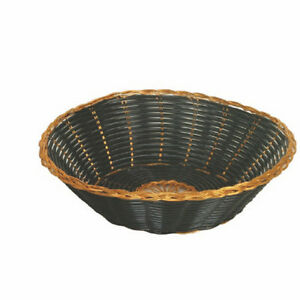 12 Fast Food Basket Serving Baskets Gold black Round Plbb825g High Quality New