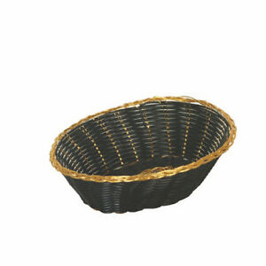 1 Dz Thunder Group Fast Food Basket Baskets Gold black Oval 9 Plbb900g New
