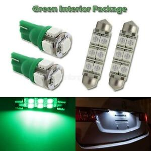 6 Green Led Interior Light Bulb Package Map Dome Lamp T10 6411 Festoon tool