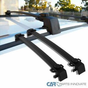 Jeep 17 18 Compass Black Roof Cross Bars Crossbars Rack Luggage Cargo Carrier