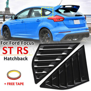 For 2012 2019 Ford Focus St Rs Mk3 Hatchback Abs Rear Window Side Louvers Vent