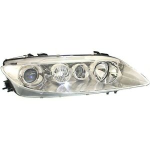 Headlight For 2003 2004 2005 Mazda 6 Right Chrome Housing With Fog Light