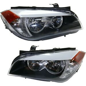 Headlight Set For 2012 Bmw X1 Xdrive28i Model Left And Right With Bulb 2pc