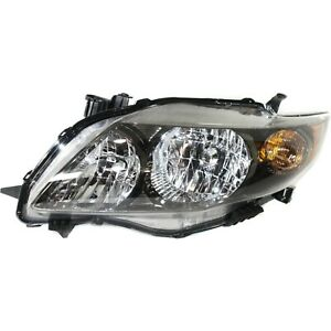 Headlight Left With Black Housing For 2009 2010 Toyota Corolla S Xrs Model