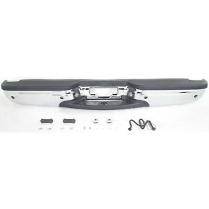 Step Bumper For 2000 2002 Ford Expedition W Blk Pads Ros Holes Chrome Finish
