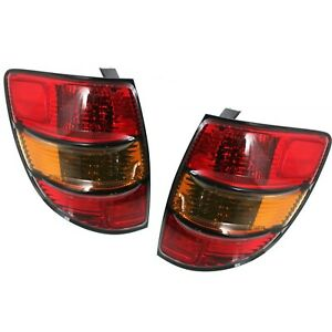 Halogen Tail Light Set For 2003 2008 Pontiac Vibe Wagon Amber Red W Bulbs 2pcs