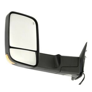 Tow Mirror For 2011 2012 Ram 1500 Left Side Power Heated Blind Spot Puddle Light
