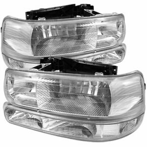 Spyder 5064226 Headlight For 99 2002 Chevrolet Silverado 1500 Left And Right 2pc