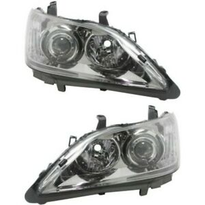 Headlight Set For 2010 2011 Lexus Es350 Left And Right With Bulb 2pc