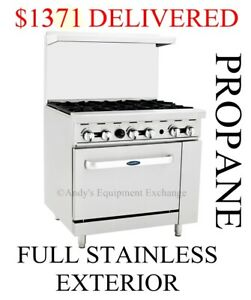 New 36 6 Burner Range With 26 5 Oven Nsf Propane food Truck Friendly Ato 6b