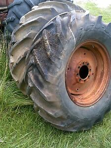 16 9x26 Tires Ih Ihc Combine Utility Tractor 8 Bolt Steel Rims Ac Wd Long Bar