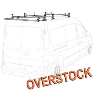 H1 3 Bar Aluminum Ladder Rack W Roller silver Fits All Ford Transit Cargo Van