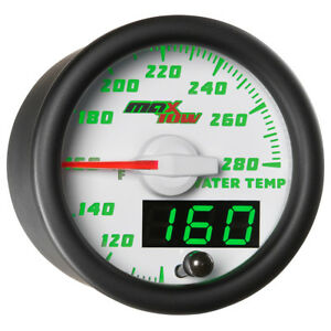 52mm White Maxtow Water Temp Temperature f Gauge W Digital Analog Readouts