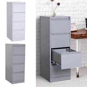 52 h 4 Drawer Freestanding Vertical Home Office File Cabinet W Lock Steel Metal