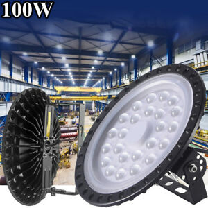 100w Watt Ufo Led High Bay Light Factory Industrial Warehouse Commercial Lights