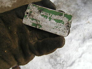 1953 John Deere 50 Rowcrop Tractor Original Jd Serial Number Tag 5003470