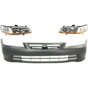 Bumper Kit For 2001 2002 Honda Accord Front 4 door Sedan 3pc