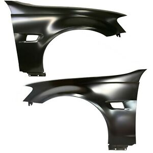 Fender Set For 2008 2009 Pontiac G8 Front Primed Steel W signal Light Hole Pair
