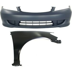 Bumper Cover Kit For 2004 2005 Civic Front 2pc