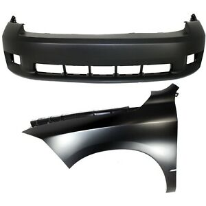 Bumper Cover Kit For 2011 2012 Ram 1500 Front 2pc With Fender
