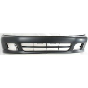Front Bumper Cover For 99 2001 Mitsubishi Galant W Fog Lamp Holes Primed