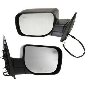 Mirror Power Pair For 2005 2015 Nissan Armada Heated Textured Black