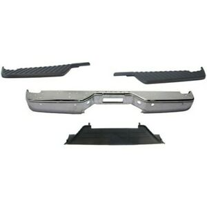 Step Bumper Kit For 2004 2014 Nissan Titan Rear With Step Bumper And Pad 4pc