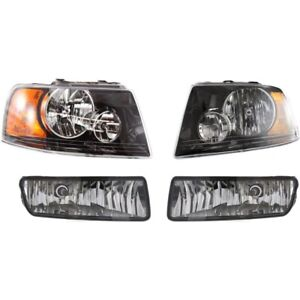 Headlight Kit For 2004 2006 Ford Expedition Left And Right 4pc