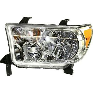 Headlight For 2007 2013 Toyota Tundra Left Clear Lens Halogen