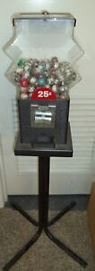Vintage Capsule Vending Machine 25 Cent Vend With 1 Inch Capsules