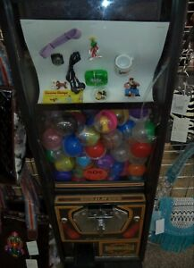 Vintage Capsule Vending Machine 50 Cent Vend With 2 Inch Capsules