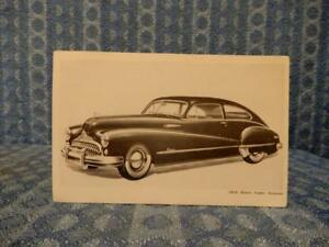 1948 Buick Super Sedanet Original Factory Dealer Postcard
