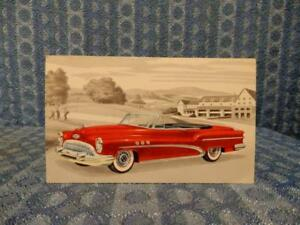 1953 Buick Super Rivera Convertible 56c Original Factory Dealer Color Postcard