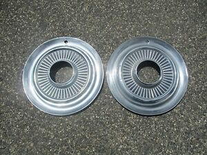Lot Of 2 Genuine 1972 To 1979 Jeep Jeepster Front 4x4 Hubcaps